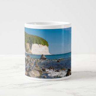 White cliffs on shore of the Baltic Sea Jumbo Mug