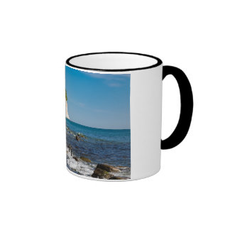 White cliffs on shore of the Baltic Sea Ringer Mug