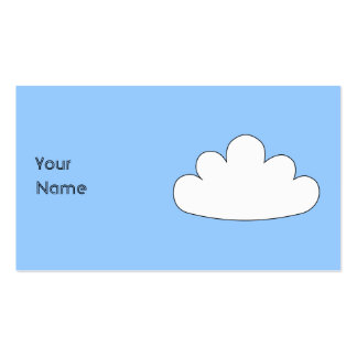White Cloud motif. On Blue. Pack Of Standard Business Cards