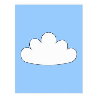 White Cloud motif. On Blue. Postcard