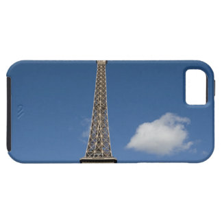 white clouds against blue sky behind the Eiffel iPhone 5 Covers