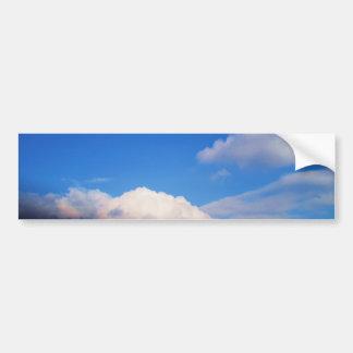 White Clouds & Blue Sky Bumper Sticker