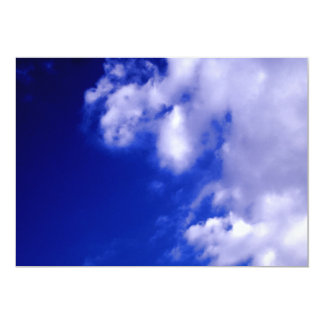 White Clouds & Blue Sky Invitation