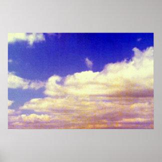 White clouds, daytime print