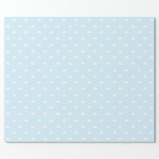 White Clouds on a Blue Background Wrapping Paper