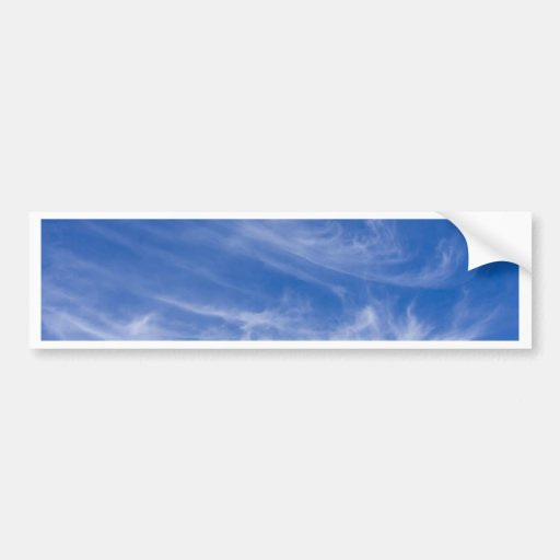 White clouds on blue sky bumper stickers