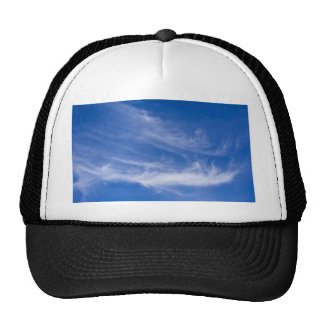 White clouds on blue sky mesh hat