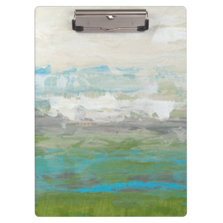 White Clouds Overlooking Beautiful Landscape Clipboards
