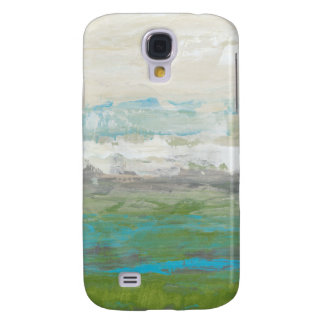 White Clouds Overlooking Beautiful Landscape Galaxy S4 Case