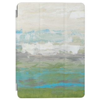 White Clouds Overlooking Beautiful Landscape iPad Air Cover