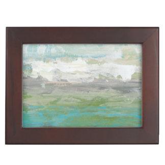 White Clouds Overlooking Beautiful Landscape Keepsake Box