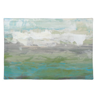 White Clouds Overlooking Beautiful Landscape Placemat