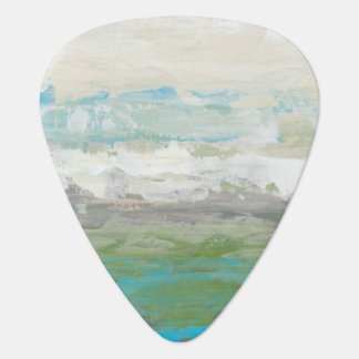White Clouds Overlooking Beautiful Landscape Plectrum