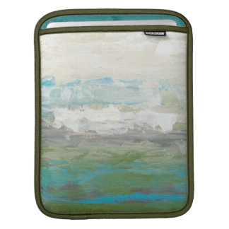 White Clouds Overlooking Beautiful Landscape Sleeves For iPads