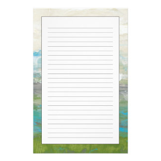 White Clouds Overlooking Beautiful Landscape Stationery