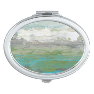 White Clouds Overlooking Beautiful Landscape Travel Mirrors