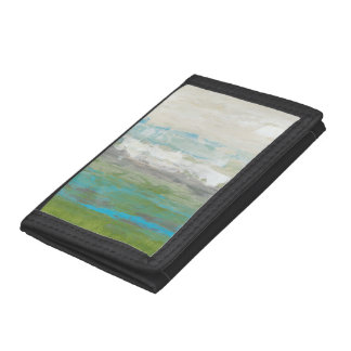 White Clouds Overlooking Beautiful Landscape Trifold Wallets