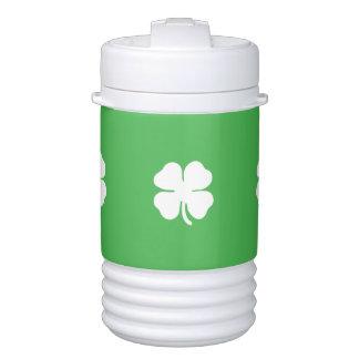 White Clover Leaf Igloo Beverage Cooler, One Quart Cooler