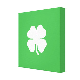 White Clover Leaf Wrapped Canvas