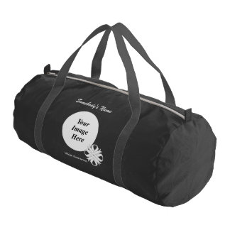 White Clover Ribbon Template Gym Duffel Bag