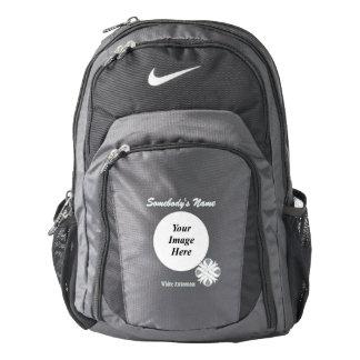White Clover Ribbon Template Backpack