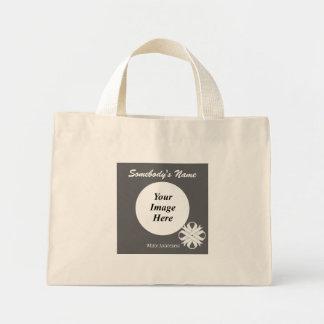White Clover Ribbon Template Mini Tote Bag