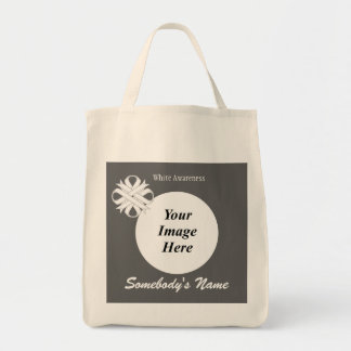 White Clover Ribbon Template Grocery Tote Bag