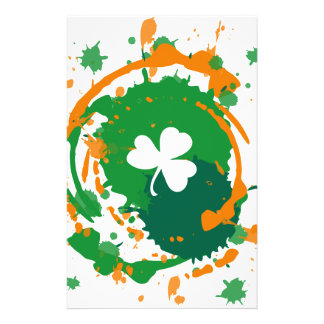 White Clover With Ink Background 14 Cm X 21.5 Cm Flyer