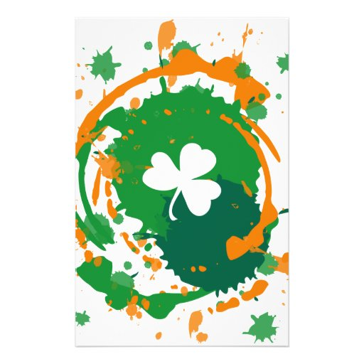 White Clover With Ink Background Full Color Flyer