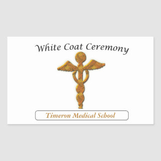 White Coat Ceremony Gold Medical, Custom Stickers
