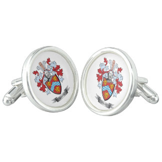 White Coat of Arms Cuff Links