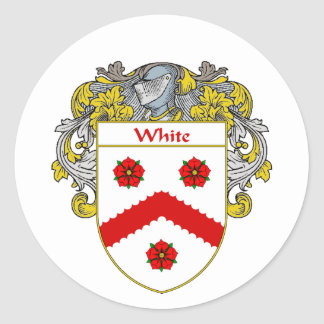 White Coat of Arms (Mantled) Classic Round Sticker