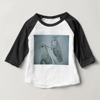 White Cockatiel Parrots watercolor T-shirt