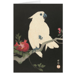 White Cockatoo - Japanese Fine Art Greeting Card