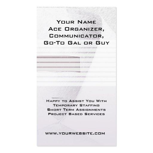 White Collar Job Seeker Business Card