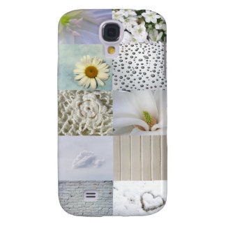White Color Photograph Collage Galaxy S4 Case