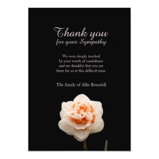 White Colour Carnation Bereavement Thank You Card
