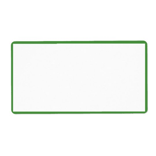 White Colour with Thin Green Borders Shipping Label