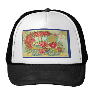 White Congratulations printed in Germany 1909 po Trucker Hat