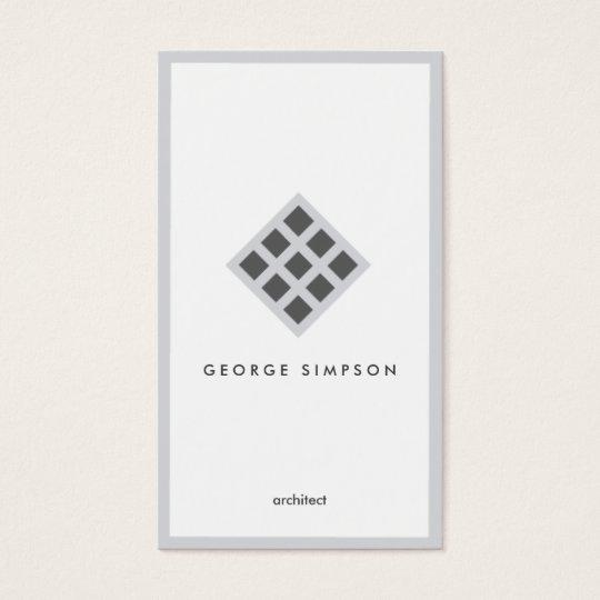 White congregation black geometric elegant framed business card