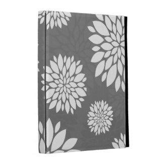 White Contemporary Flowers iPad Folio Cases