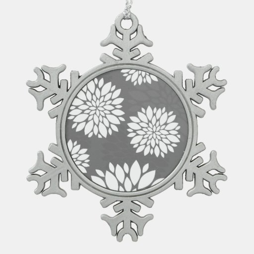 White Contemporary Flowers Ornaments
