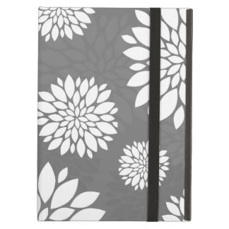 White Contemporary Flowers Cover For iPad Air