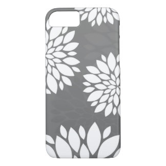 White Contemporary Flowers iPhone 8/7 Case