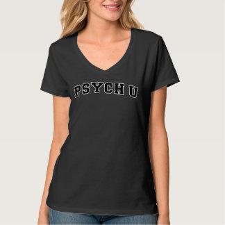 White contour PSYCH U Shirts