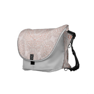 White & Coral  Lace Fabric Image  Background Commuter Bag