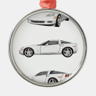 White Corvette: Christmas Ornament