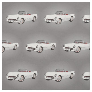 White Corvette Fabric