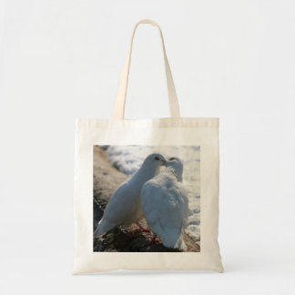 White Couple Doves Budget Tote