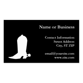 White Cowboy Boot Pack Of Standard Business Cards